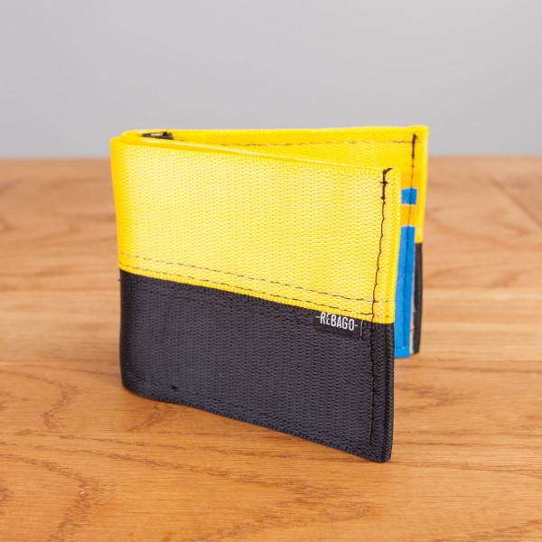 Portemonnaie Safety Card gelb/blau
