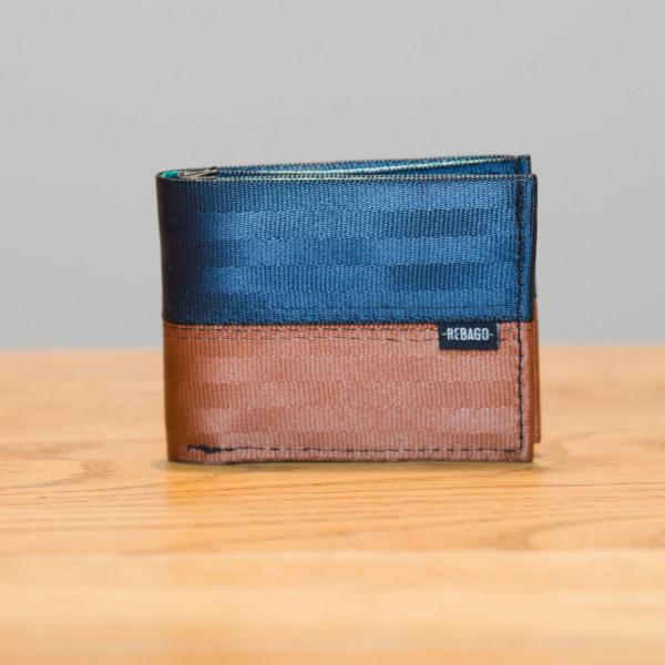 Portemonnaie Safety Cash schwarz/braun/grün