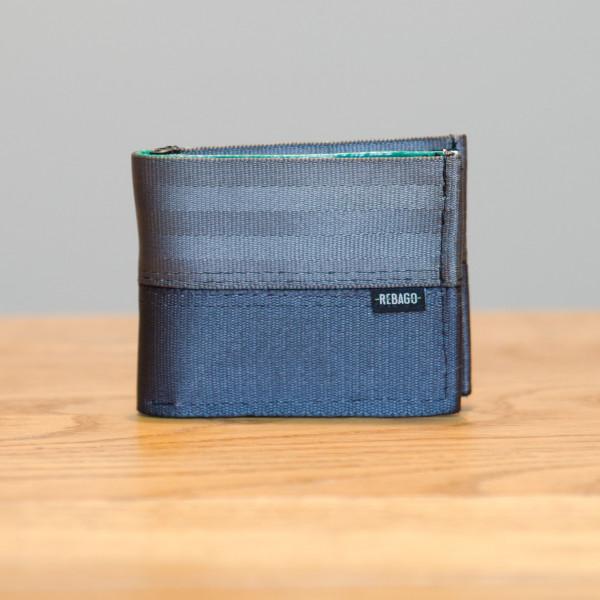 Portemonnaie Safety Cash grau/gelb/grün