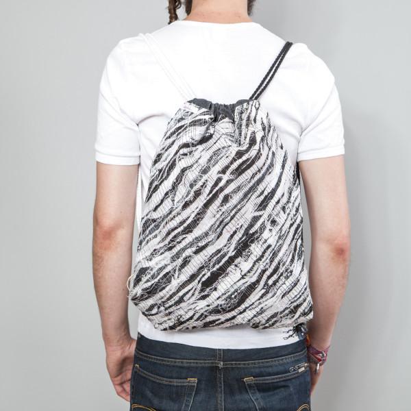 Rucksack Mosaic schwarz/weiß