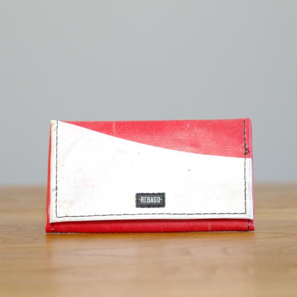 Portemonnaie Cosmo weiß/rot