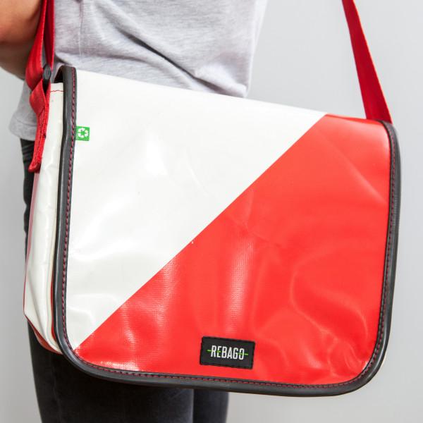Tasche Movido rot/weiß