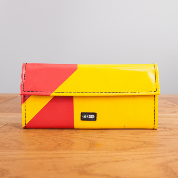 Portemonnaie Audrey gelb/rot