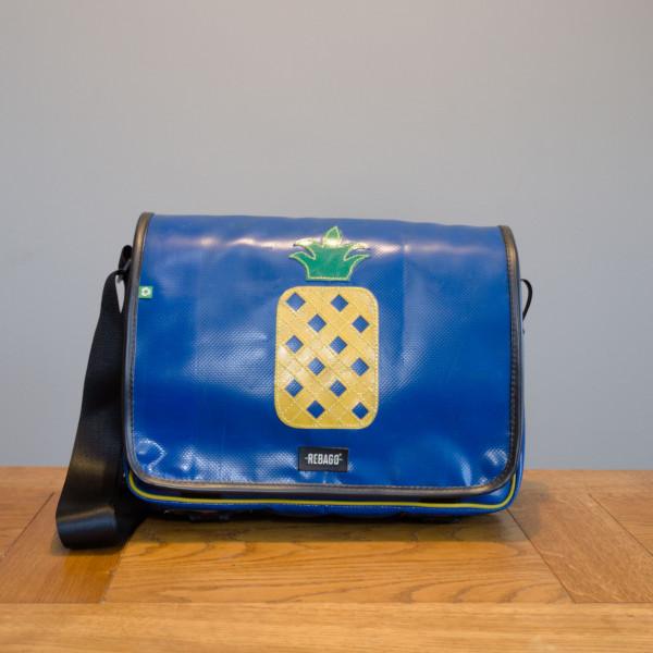 Tasche Estudio blau/Ananas