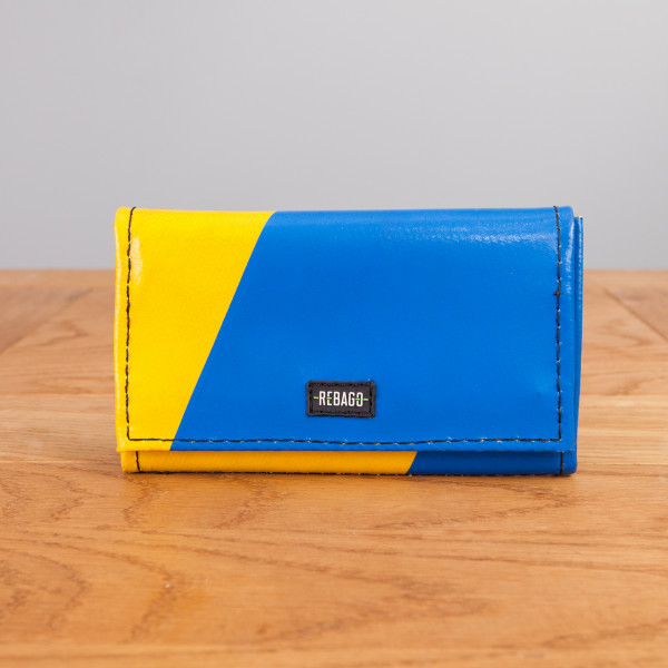 Portemonnaie Cosmo blau/gelb