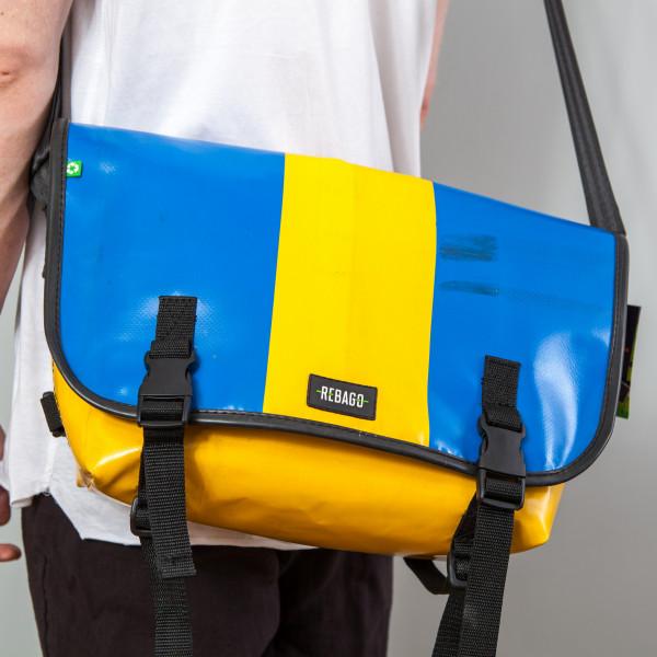 Tasche Correo blau/gelb