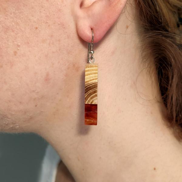 Ohrringe Eibe Acetat silber