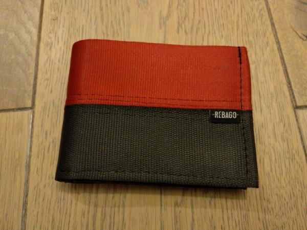 Portemonnaie Safety Cash rot/schwarz