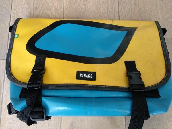 Tasche Correo gelb/hellblau
