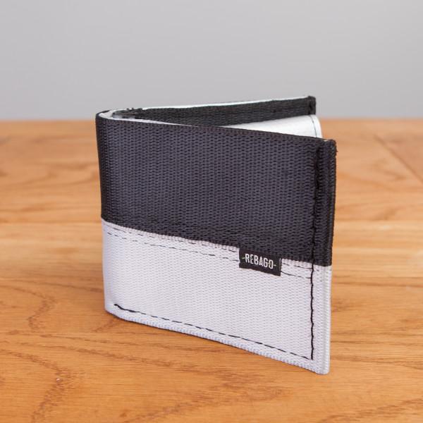 Portemonnaie Safety Cash schwarz/silber