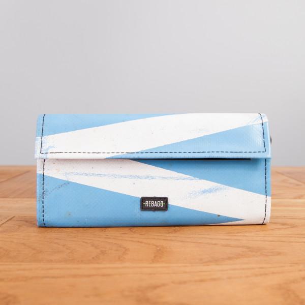 Portemonnaie Audrey hellblau/weiß
