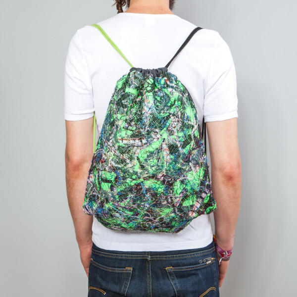 Rucksack Mosaic grün/schwarz