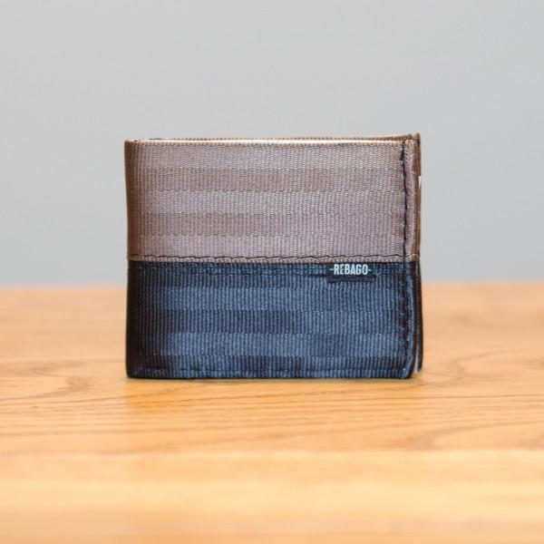Portemonnaie Safety Cash braun/schwarz/silber