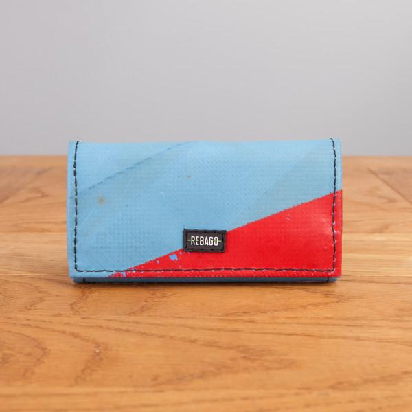 Portemonnaie Cosmo hellblau/rot