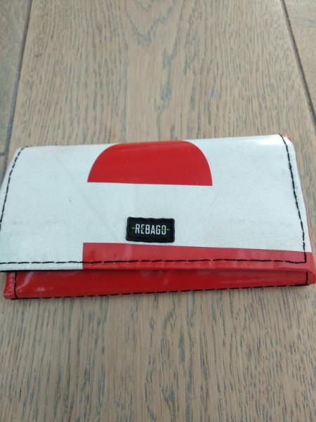 Portemonnaie Cosmo rot/weiß