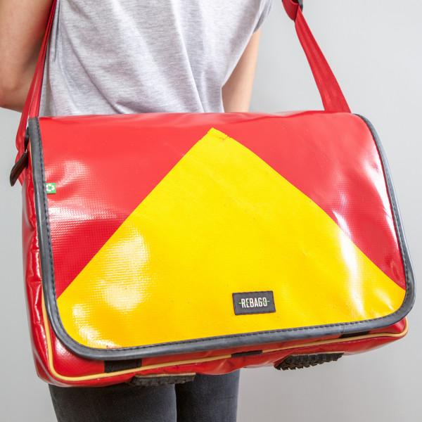 Tasche Estudio Plus rot/gelb