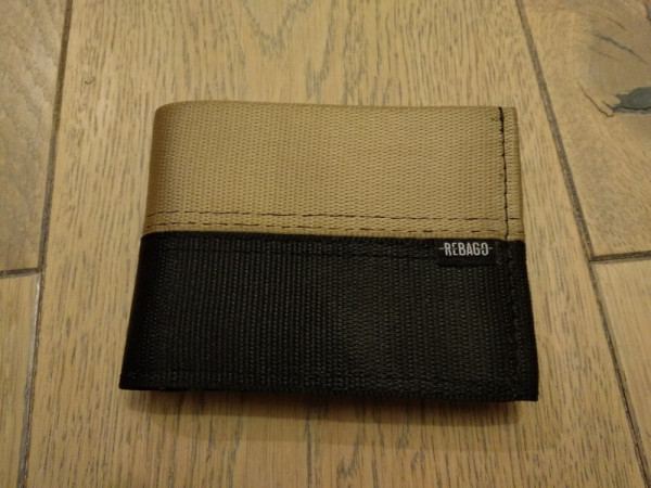 Portemonnaie Safety Cash beige/braun/grün