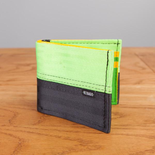 Portemonnaie Safety Card neongrün/schwarz