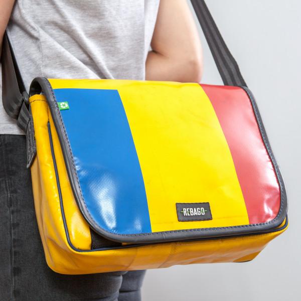 Tasche Movido blau/gelb/rot