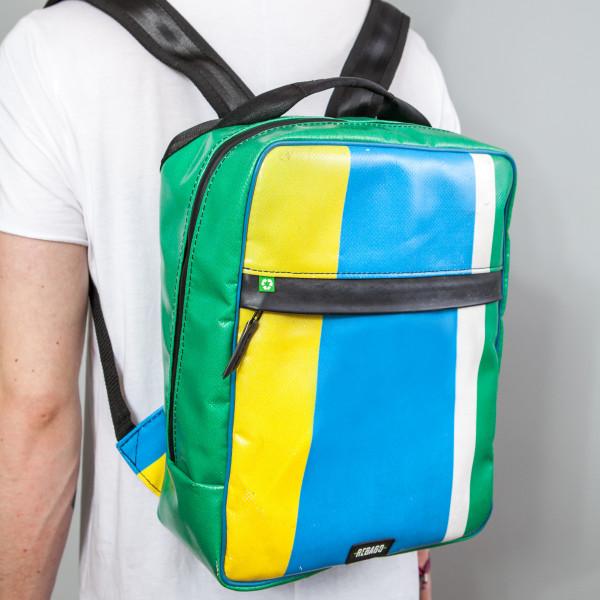 Rucksack El Paquete grün/gelb/blau