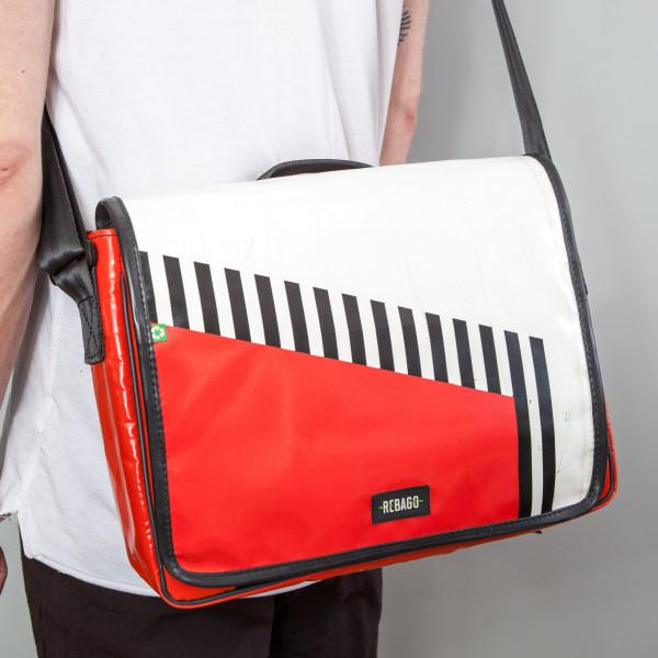 Tasche Estudio rot/weiß/schwarz