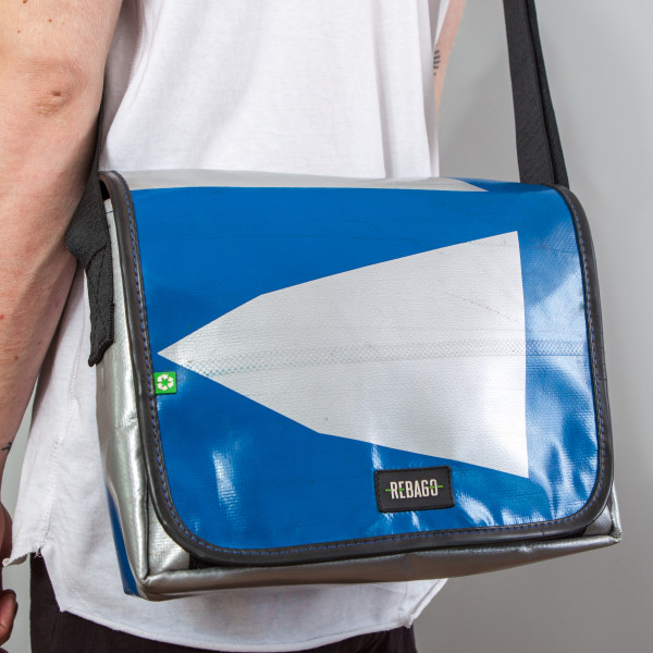 Tasche Movido blau/silber