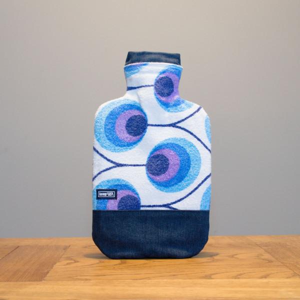 Wärmflaschenbezug violett/blau