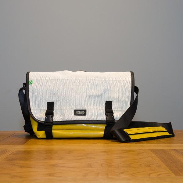 Tasche Correo weiß/gelb