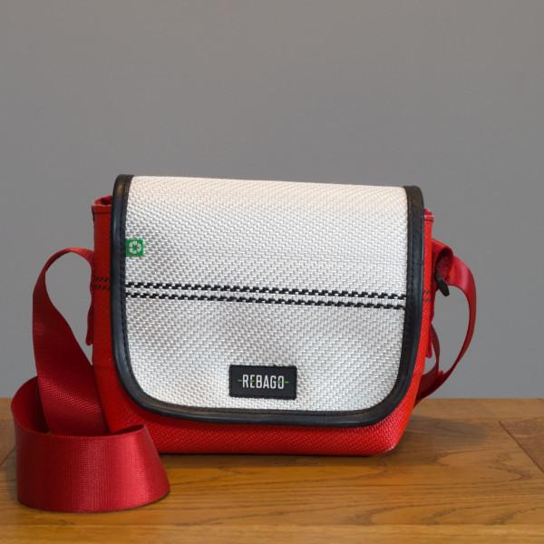 Tasche Chico weiß/rot