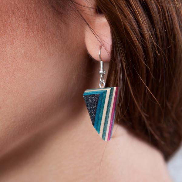 Ohrringe Dart blau/grün