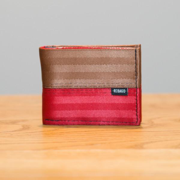 Portemonnaie Safety Cash braun/rot