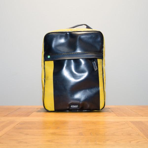 Rucksack El Paquete gelb/schwarz