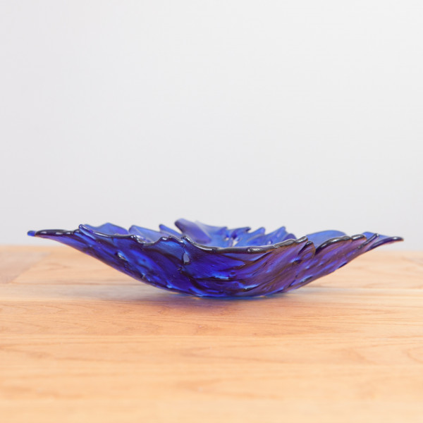 Glasschale Shattered Square blau