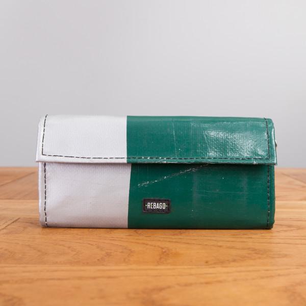 Portemonnaie Audrey dunkelgrün/silber