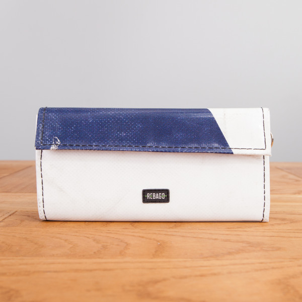 Portemonnaie Audrey weiß/dunkelblau