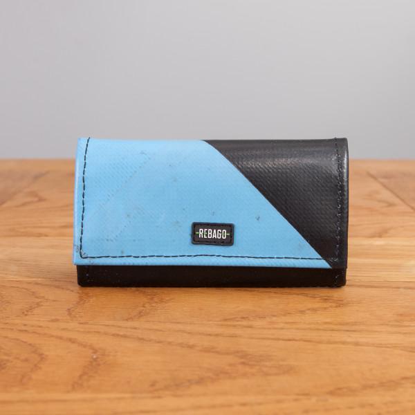 Portemonnaie Cosmo hellblau/schwarz