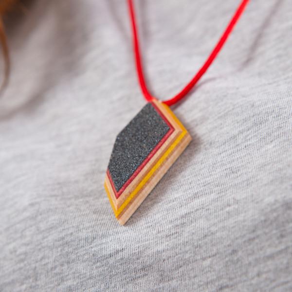 Skateboard Kette Shard rot/gelb