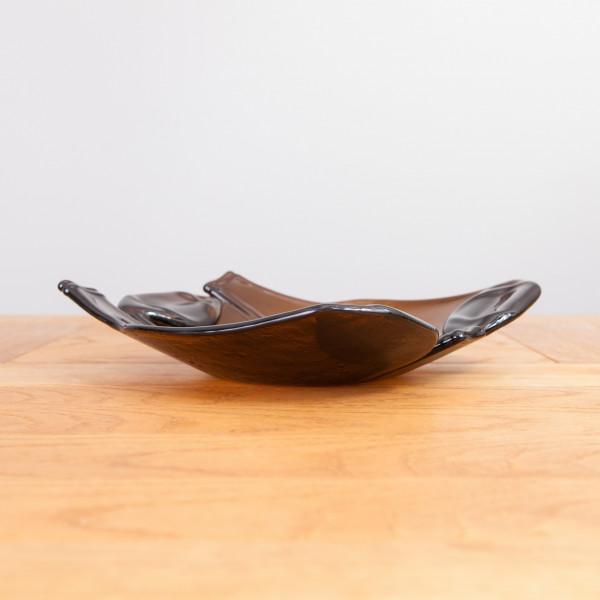 Glasschale Dali braun